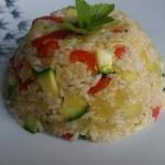 Ryz z cukinia i papryka