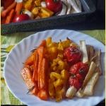Pieczone warzywa Ombre....