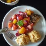 Ryba, slasa z brzoskwini...