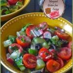 Salad with crab sticks...