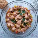 Sałatka  gyros  z ryżem