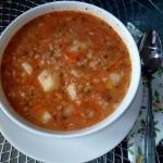 Krupnik lekko pomidorowy