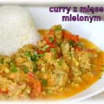 Curry z mięsem mielonym
