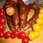 Chorizo castellano.