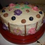 Tort kakaowo - waniliowy.