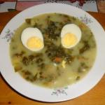 Szczawiowa z jajkiem.