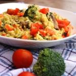 Warzywa z ryżem duszone...