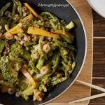 Krewetki z warzywami w...