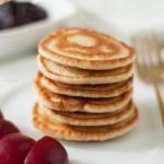 Pancakes fit z płatkami...
