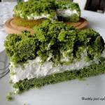 Ciasto leśny mech w...