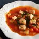 Zupa z łososiem