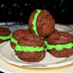 Brownie z zielonym kremem