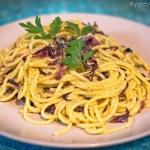 Spaghetti z cykorią...