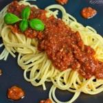 Spaghetti z  oszukanym ...