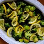 pieczone warzywa zielone...