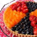 Tarta z owocami i kremem...