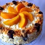 Tort brzoskwiniowy na zim...