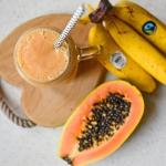 banan + papaja + mleko...