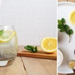 woda + mięta + cytryna...