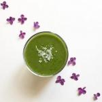 zielona herbata + szpinak...