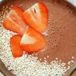kakao + płatki owsiane...