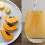 papaja + banan + mleko...