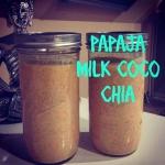 papaja + mleko kokosowe...