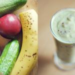 ogorek + banan + avocado ...
