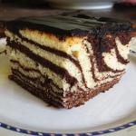 Ciasto Zebra z colą