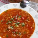 Zupa pomidorowa z miesem ...