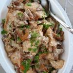 Kurczak (filet) z kurkami...