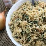 Brązowy ryż smażony z...