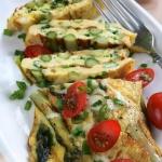 Omlet z zielonymi...