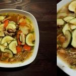 Zupa miso z grzybami shim...