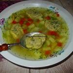 Zupa z roladkami