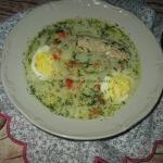 Zupa chrzanowa z jajkami...