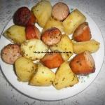 Mlode ziemniaki pieczone ...