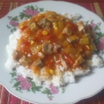 Schab z sosem słodko -...