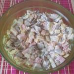 Sałatka z boczniaka