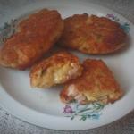 Krokiety z serem i szynka...