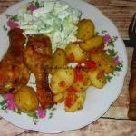 Palki kurczaka pieczone z...