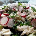 Zielona salata z rzodkiew...