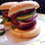 Hamburger z salami