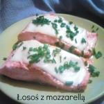 Łosos z mozzarella