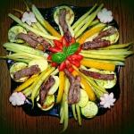 warzywny talerz z odrobin...
