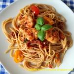 Spaghetti z krewetkami i ...