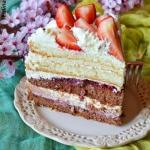Tort dwukolorowy