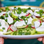Salatka z ogorka, rzodkie...