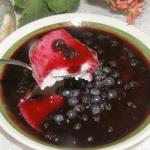 kasza manna z jagodami......
