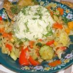 kasza jaglana z warzywami...